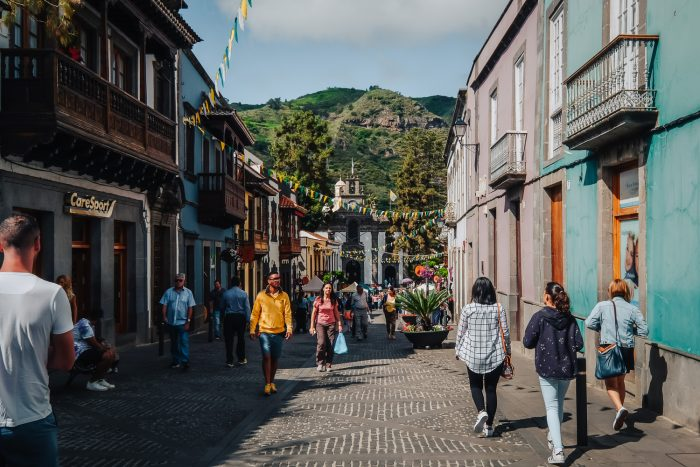 Small town in the northern region of Gran Canaria, Canary Islands