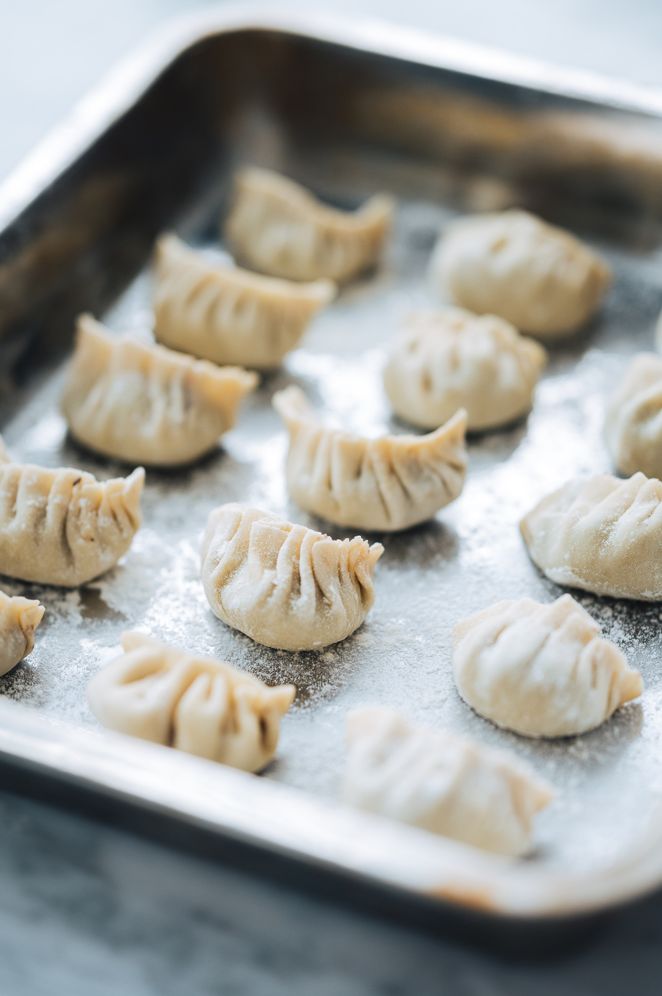 Homemade Vegetable Potstickers with red cabbage, mushrooms, garlic and ginger #mondomulia