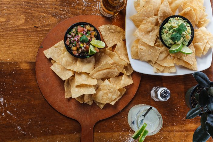 Nachos chips and dips