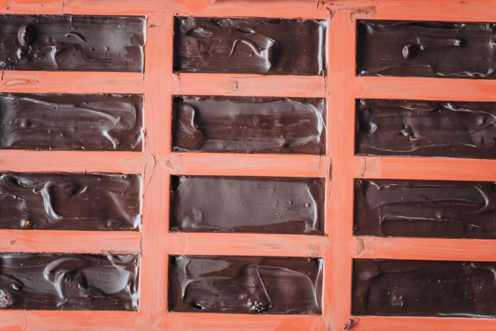Dark Chocolate Bars in silicone molds