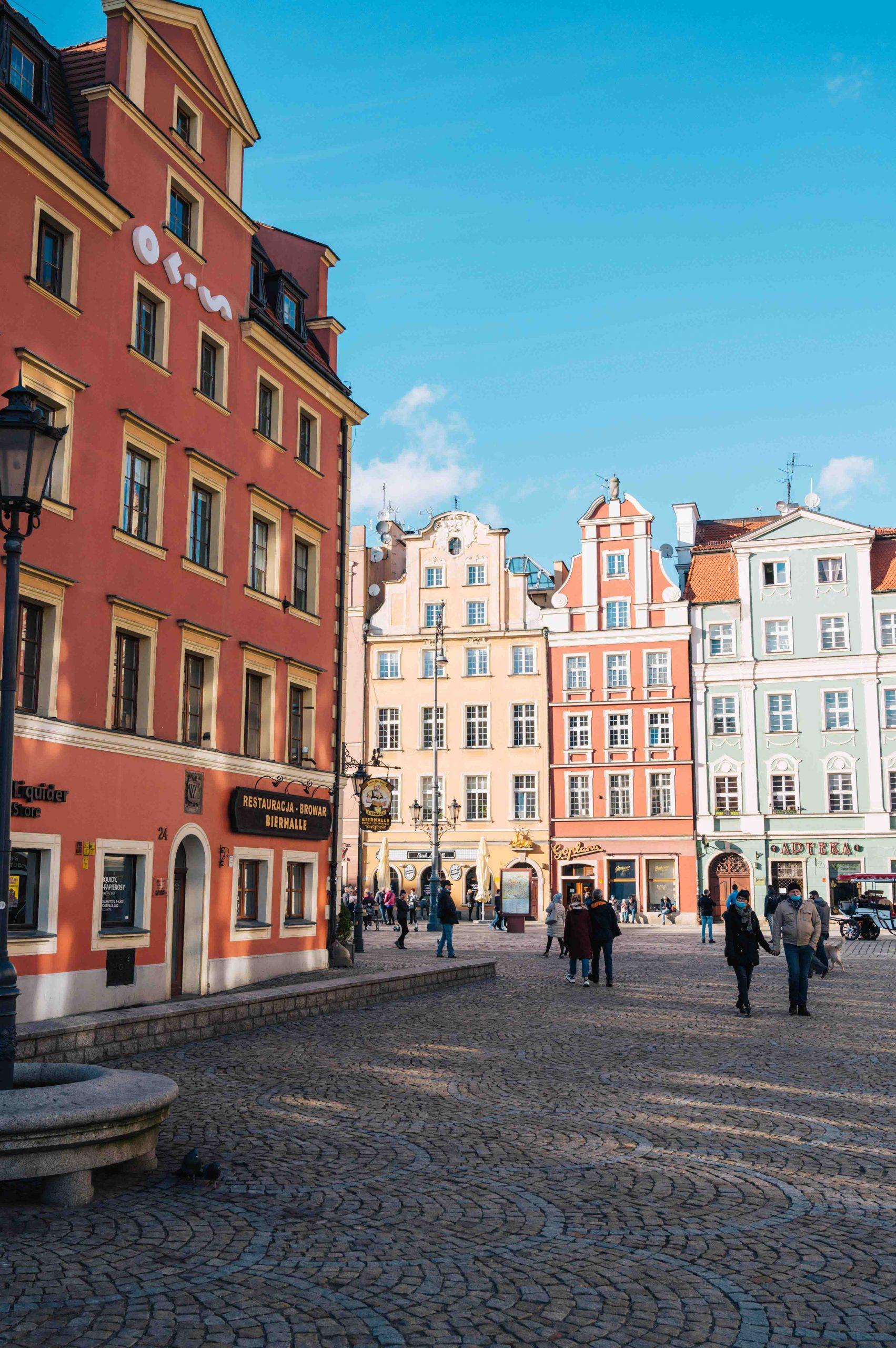 Rynek, the Market Square in Wroclaw (Breslau) in Poland