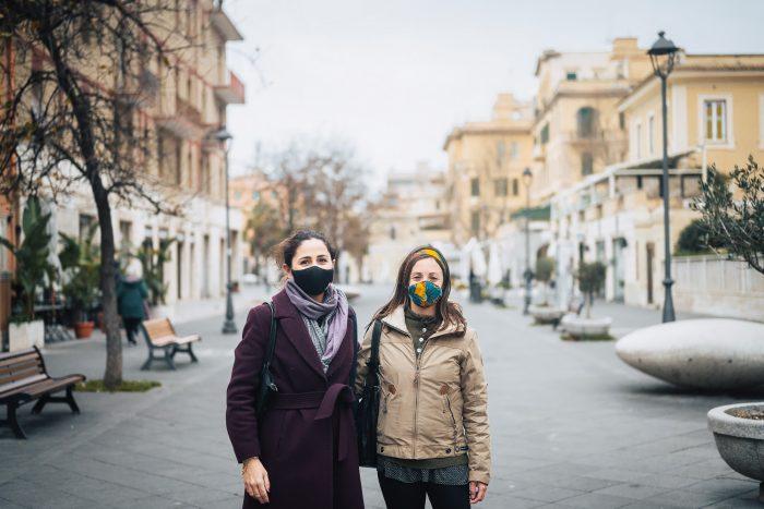 Women wearing face masks during Coronavirus pandemic