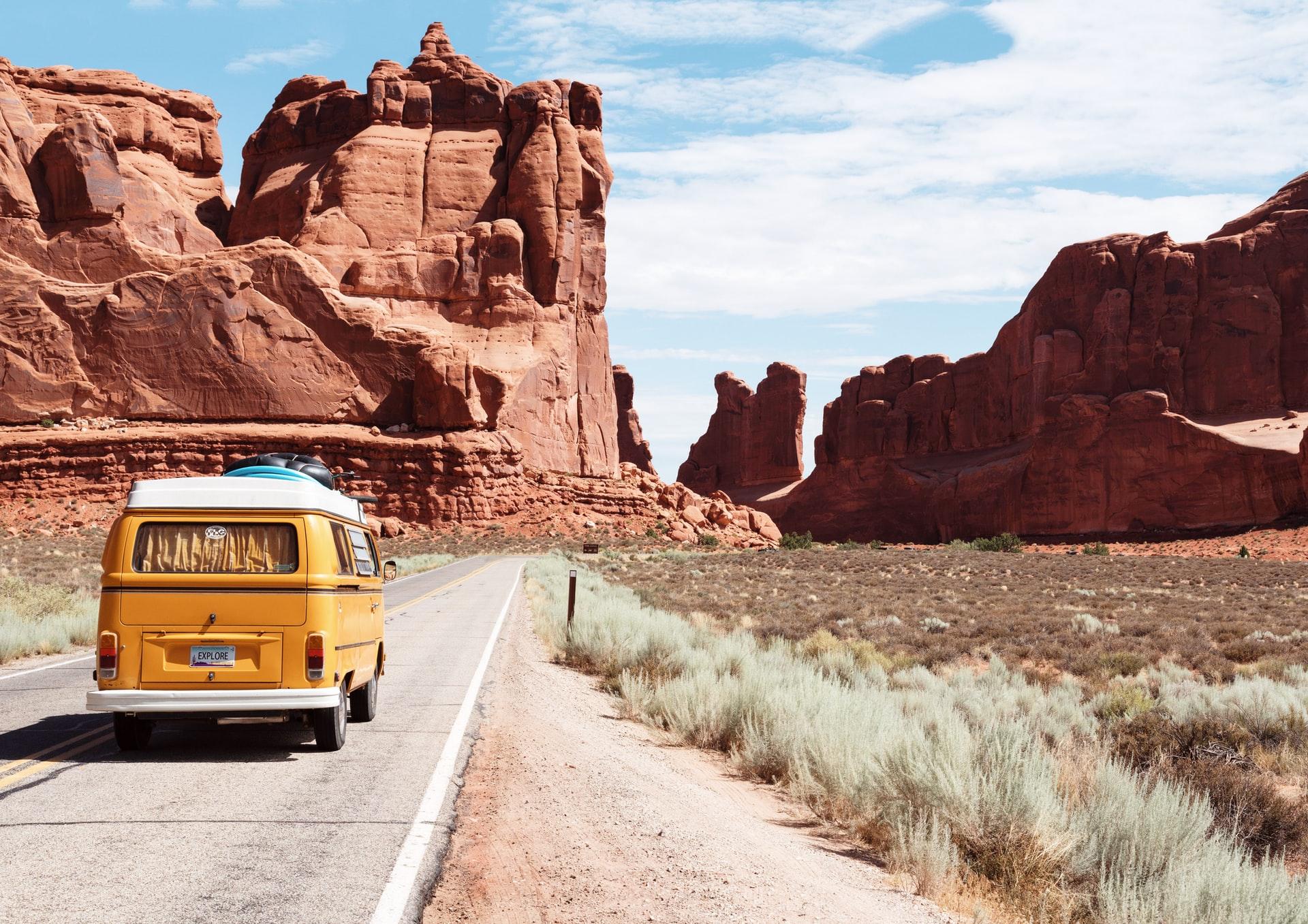 Arches national park entrance station, moab, united states