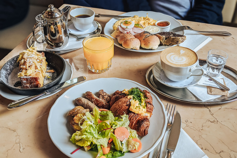 Breakfast at Café Savoy in mala Strana district, Prague, Czech Republic