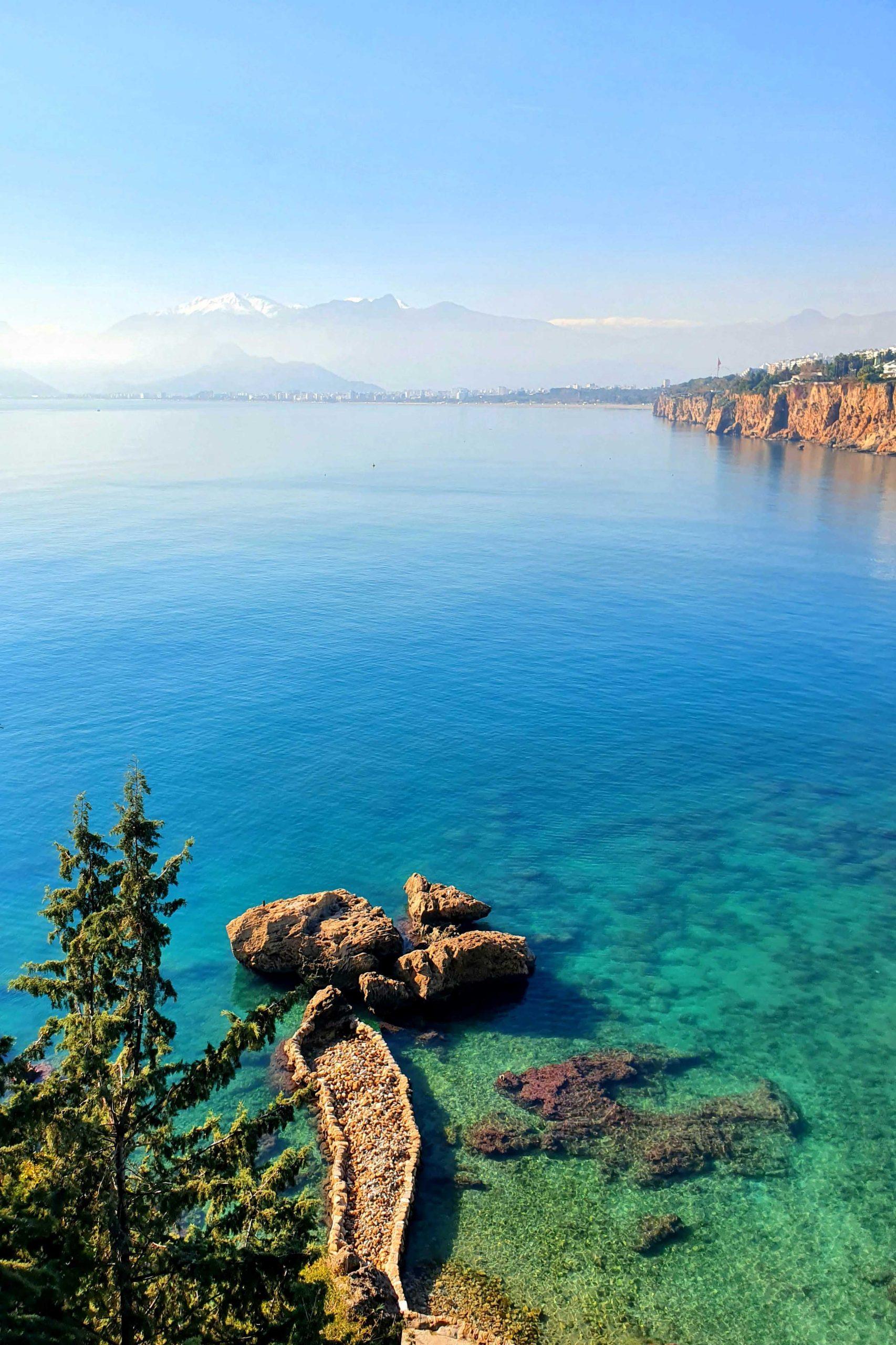 Mediterranean sea in Antalya, Turkey