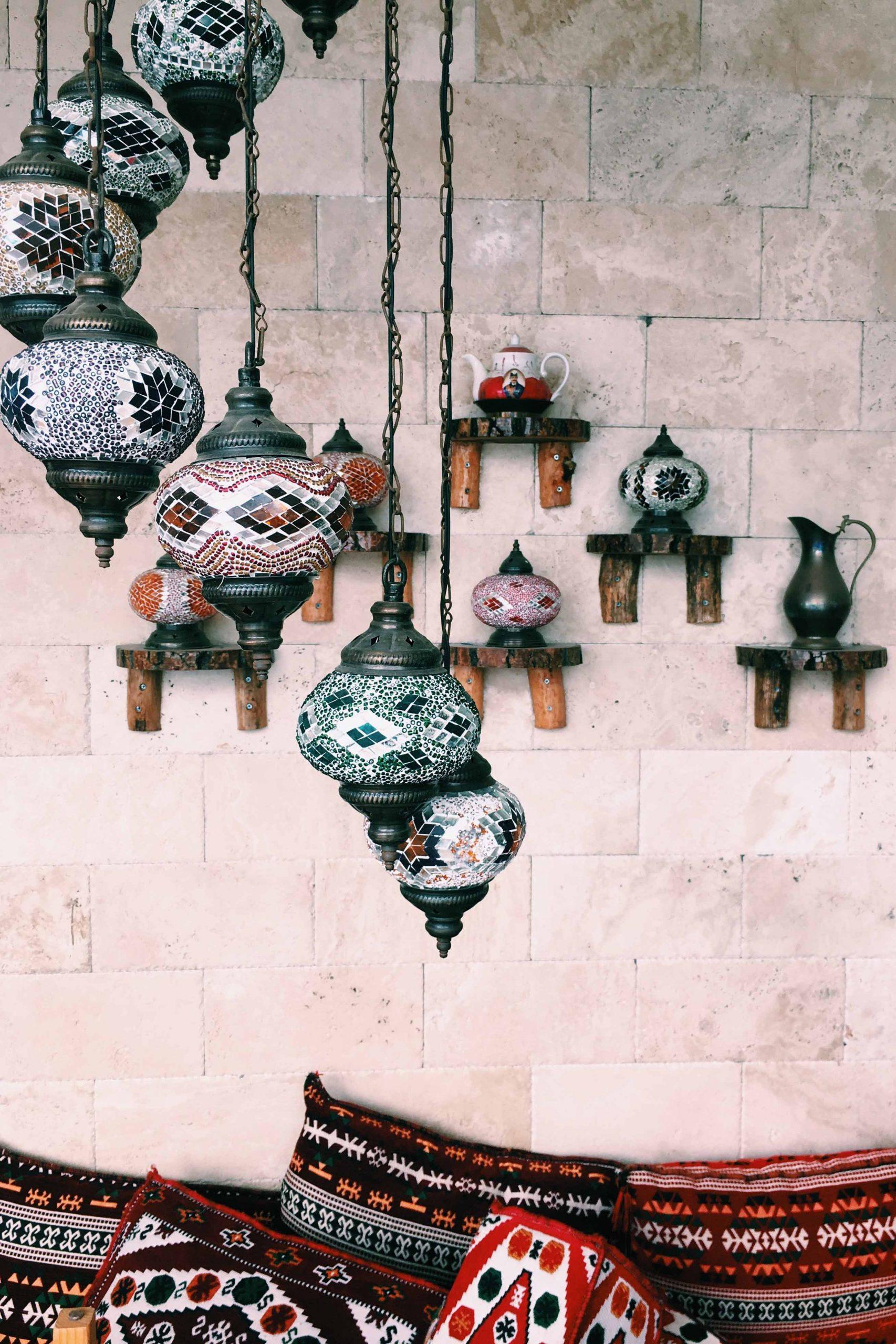 Bazaar, Turkish lamps, Antalya, Turkey - Kargıcak Mahallesi, Gold City İçi Yolu, Antalya, Turkey