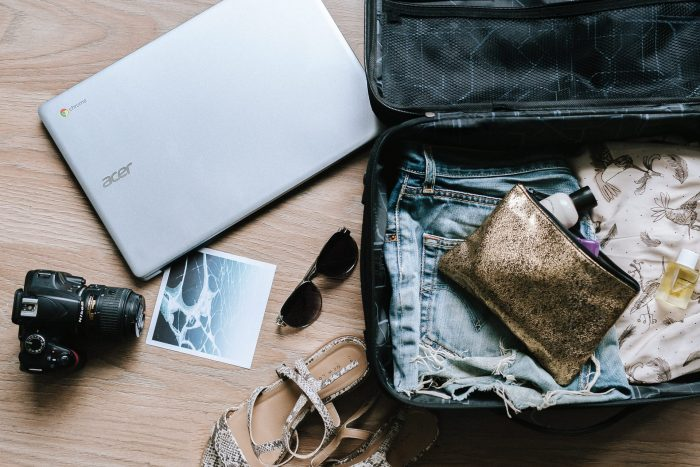 Packing a suitcase to travel