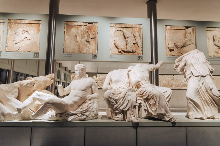 The Acropolis museum in Athens, Greece