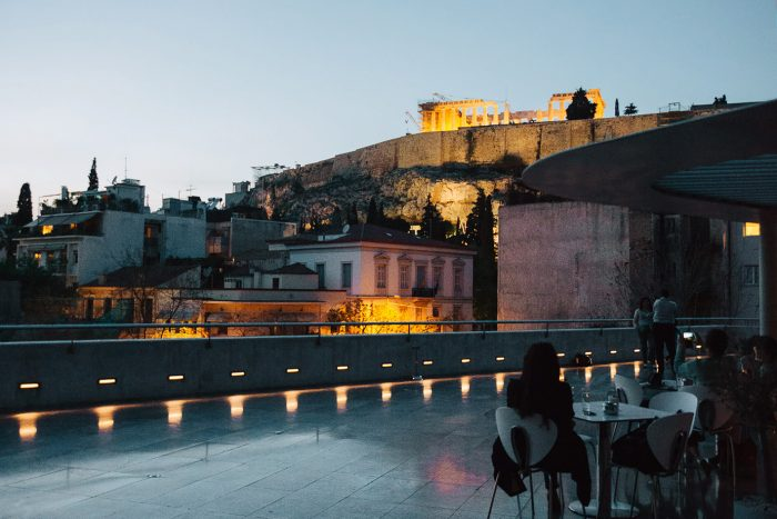 Dinner at the Acropolis Museum Restaurant in Athens, Greece