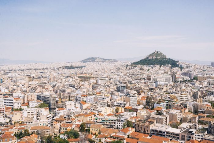 View of the city of Athens from the Hill of the Acropolis - Greece