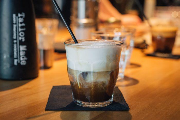 Freddo cappuccino at Tailor Made café in Athens, Greece