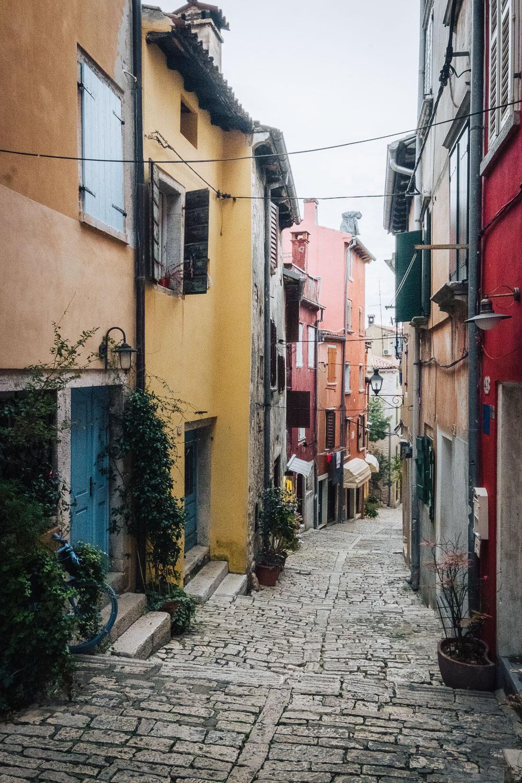 Street in Rovinj, Istria, Croatia